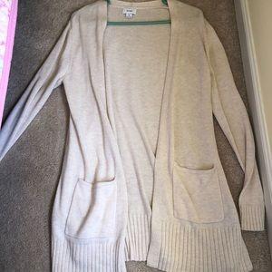 Cream sweater, cream cardigan, women's cardigan